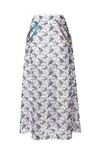 Medium christopher kane purple plasma lace petal skirt