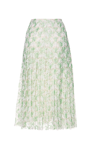 Plasma Lace Pleat Skirt by CHRISTOPHER KANE for Preorder on Moda Operandi