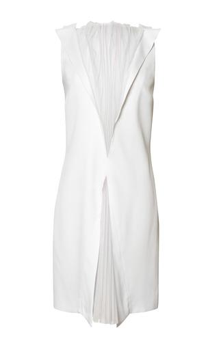 Medium christopher kane purple 2 pleat collar dress