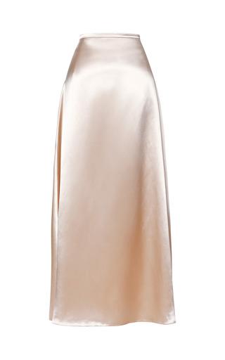 Medium christopher kane nude high shine long a line skirt