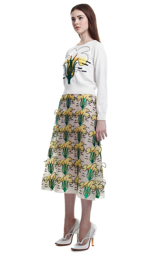 Buttercup Embroidered Skirt by CHRISTOPHER KANE for Preorder on Moda Operandi