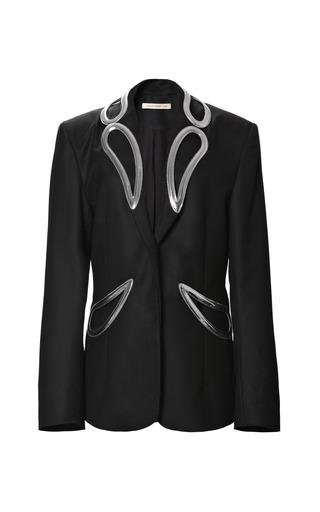 Medium christopher kane black oversize double petal lapel jacket
