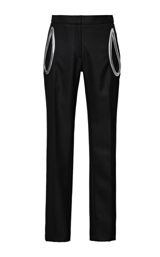 Medium christopher kane silver petal pocket trouser