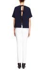 Pearl Embellished Cropped Jeans by OSCAR DE LA RENTA Now Available on Moda Operandi