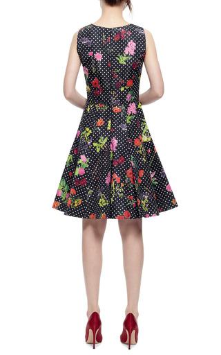 Floral Print Silk Faille Dress by OSCAR DE LA RENTA Now Available on Moda Operandi