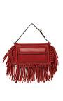 Scarlet Vitello Gryphon Flap Bag by VALENTINO for Preorder on Moda Operandi