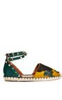 Light Emerald Cavallino Espadrille by VALENTINO for Preorder on Moda Operandi