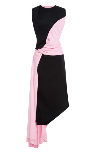 Medium josh goot pink new twist sleeveless dress