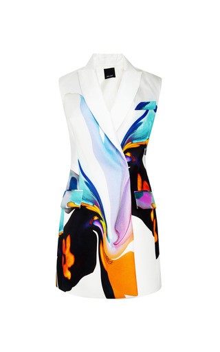 Clean Sleeveless Double Breasted Blazer by JOSH GOOT for Preorder on Moda Operandi