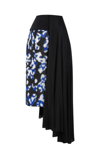 Medium josh goot silver wrap jacquard drape skirt 2
