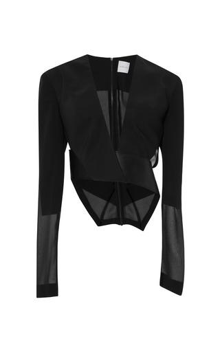 Medium dion lee black orbit belted blouse