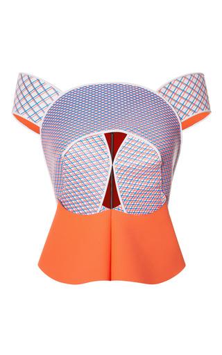 Medium dion lee blue cycle loop shoulder top