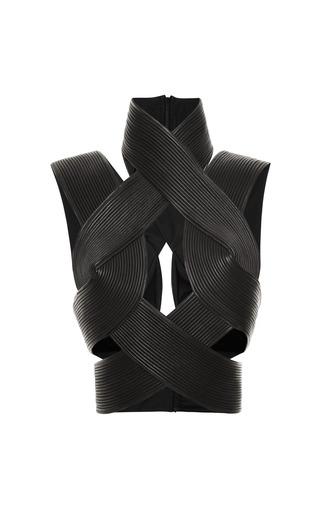 Medium dion lee black corded interlock top