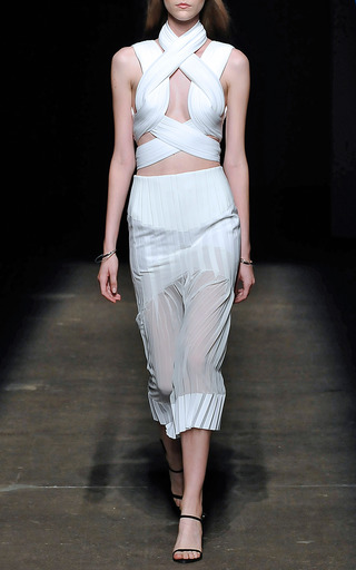Neo Pleat Column Skirt by DION LEE for Preorder on Moda Operandi