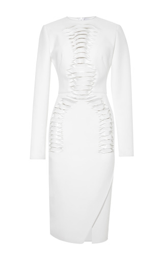 Medium dion lee white renewal long sleeve dress