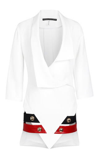 Medium anthony vaccarello white jacket sharp dress