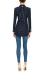 Silk Faille Laced Back Blazer by THOM BROWNE Now Available on Moda Operandi