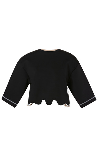 Cropped Neoprene Top by KENZO Now Available on Moda Operandi
