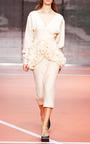 Alabaster Cotton Silk Gauze Long Sleeve Dress by MARNI for Preorder on Moda Operandi