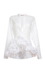 Diamante Cotton Voile Long Sleeve Blouse by MARNI for Preorder on Moda Operandi