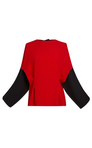 Medium marni red red crepe satin long sleeve blouse
