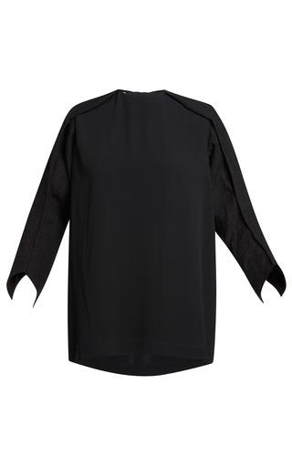 Medium marni black onice crepe envers satin blouse
