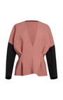 Apricot Washed Double Armure V Neck Blouse by MARNI for Preorder on Moda Operandi