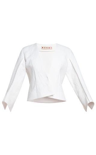 Medium marni white diamante washed double armure jacket
