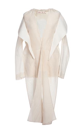 Medium marni nude alabaster cotton silk gauze jacket