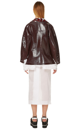 Granato Perforated Leather Jacket by MARNI for Preorder on Moda Operandi