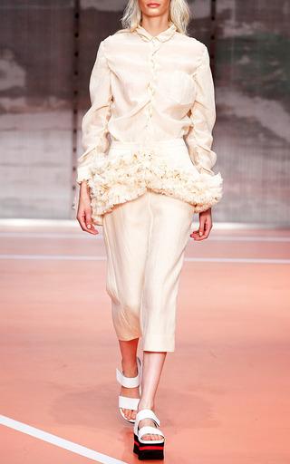Alabaster Gauze Ruffle Peplum Skirt by MARNI for Preorder on Moda Operandi