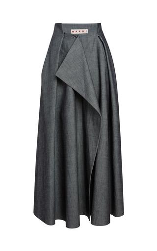 Medium marni dark grey indigo twill skirt