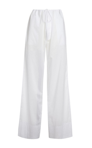Medium marni white diamante cotton voile trousers