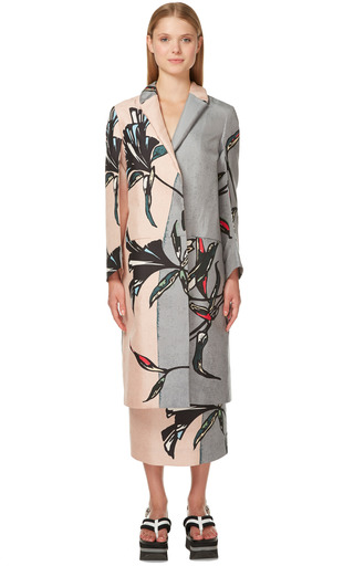 Pink Sand Windrush Print Duster Coat by MARNI for Preorder on Moda Operandi