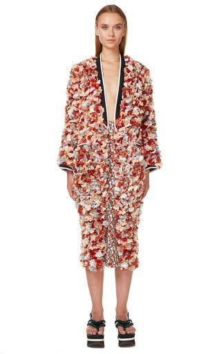 Terracotta 3 D Flowers Duster Coat by MARNI for Preorder on Moda Operandi