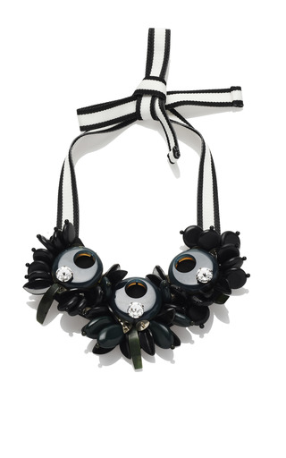 Medium marni black cipresso resin necklace