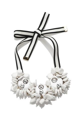 Medium marni white diamante resin necklace