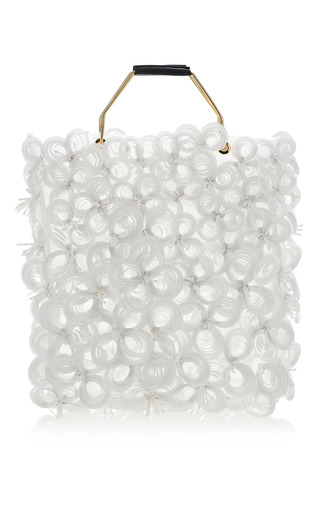 Medium marni white diamante shopping bag