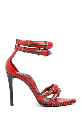 Medium anthony vaccarello red red runway sandal