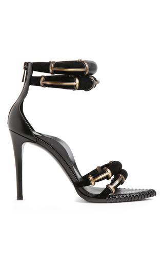 Medium anthony vaccarello black black runway sandal