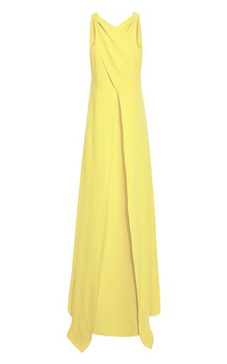 Medium rosie assoulin yellow cross front silk crepe gown
