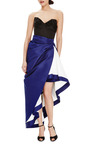 Silk Faille Ruffled Skirt by ROSIE ASSOULIN Now Available on Moda Operandi