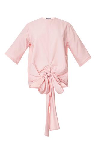 Tie Front Fine Cotton Poplin Tee by ROSIE ASSOULIN Now Available on Moda Operandi
