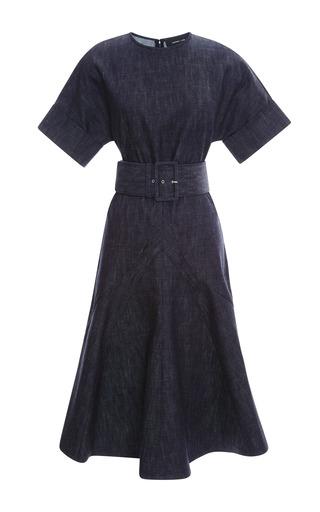 Medium derek lam blue belted denim dress