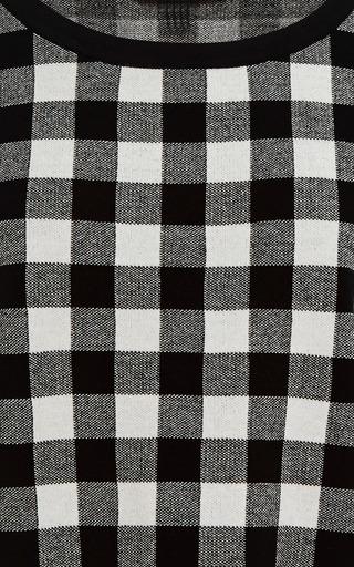 Gingham Jacquard Knit Sweater by DEREK LAM Now Available on Moda Operandi