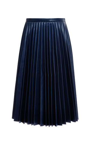 Medium j w anderson navy pleated faux leather skirt