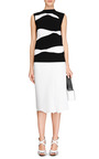 Herringbone Pleated Faux Leather Skirt by J.W. ANDERSON Now Available on Moda Operandi