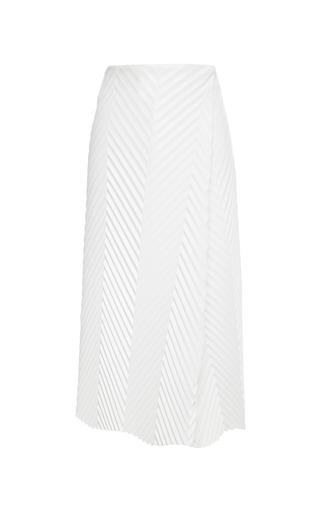Medium j w anderson white herringbone pleated faux leather skirt