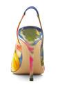 Laura Floral Print Satin Pumps by OSCAR DE LA RENTA Now Available on Moda Operandi