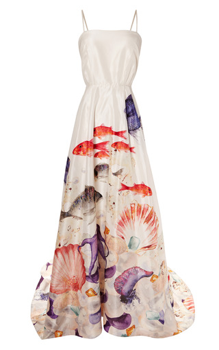 Medium isolda print aquarium atonement dress